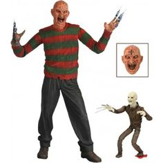 Figurine Freddy Krueger du film les Griffes de la nuit (Nightmare on Elm Street) version Dream Warriors V2. Freddy mesure 18 cm.