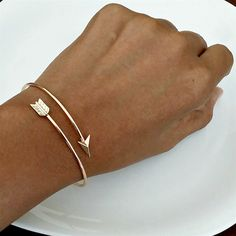 Dainty Arrow Wrap Bangle