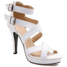 Elegant Cross-Strap and Buckle Design Sandals For Women
