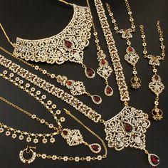 Marron Cz Kundan Bridal Necklace @ Indiatrend