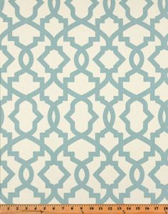 Village Blue & Natural  Valance. Sheffield Print. Window treatment. Cotton.   Designers pattern. Choose  your sizes by TwistedBobbinDesigns on Etsy