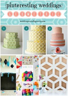 Geometric Wedding Inspiration via weddings.craftgossip.com