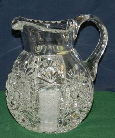 Vintage 60's JOSKA Waldglashutte Bodenmais BLEIKRISTALL Cut Crystal Pitcher/Vase $49.99 + $10.50 Shipping