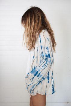Boho - chic - tyedye shirt - cool - me gusta - blue
