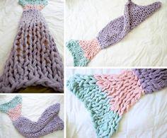 Arm Knit Mermaid Blanket