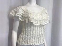 Blusa Crochet con Cuello Redondo talla Mediana paso a paso - YouTube