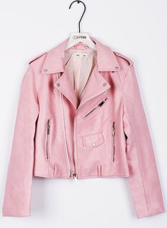 This short pink jacket is a must for this season! Keep it cozy yet trendy in this super edgy coat. Pair it with your favorite jeans or skirts. Thrown on your favorite coat for colder days.