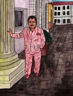 Mike Wappler (* 1955; auch bekannt als Milliarden Mike oder Ernst-August-Mike Baron von Wappler) ist ein deutscher Hochstapler. Er gilt als einer der bekanntesten Kriminellen Deutschlands. . . Mike Wappler (born 1955) is a German con man. He is considered one of the most famous criminals in Germany. . . Aquarell und Tusche auf Papier, 24 x 32 cm / Watercolour and ink on paper,24 x 32 cm Ernst August, Baron, Joker, Paintings, Fictional Characters, Paper, Watercolor, Painting Art, Paint