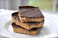 no bake peanut butter bars -  1/2 cup butter, 1/2 cup packed brown sugar, 1 teaspoon vanilla extract, 2 cups peanut butter,  2- 1/2 cups confectioners sugar, mix and melt in microwave and spread in 10x10 pan, melt  2 cups semisweet chocolate chips and pour on top.  Refrig til hardened