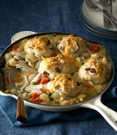 Bacon and cheddar cheese kick this pot pie up to new levels of deliciousness! Get the recipe  - WomansDay.com