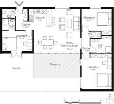 Maison Contemporaine Avec Pièce De Vie Lumineuse Chambres Dont - Plan maison 170 m2 plain pied