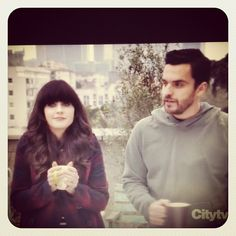 Watching New Girl! episode #tomatoes #series #ZoeyDeschanel