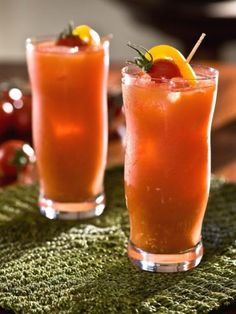 With an infusion of carrot juice, this Bloody Mary-esque drink feels downright healthy. (Well, almost.)