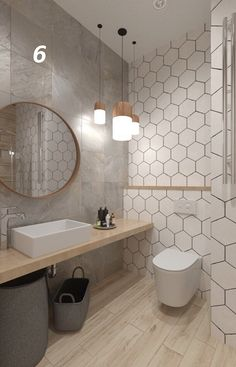 Bathroom Design Luxury, Modern Bathroom Decor, Bathroom Design Small, Oak Bathroom, Small Bathroom With Shower, Bathrooms, Design Apartment, Bathroom Design Inspiration, Toilet Design