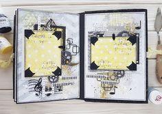 Handmade by Nadya Drozdova: Mixed-media album for 13@rts или альбом в стиле микс-медиа))