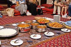 Food is served at the Sheikh Mohammed Center for Cultural Understanding in Dubai