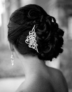 Vintage Inspired Swarovski Crystal and Pearl Bridal Hair