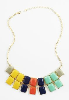 HARRIET ISLES: Kate's Colorful Rectangle Necklace #shopmama #necklace #colorblock