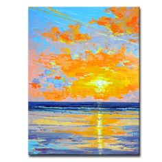 Ready2hangart 'Sunrise Shore' by Sarah LaPierre Painting Print on Wrapped Canvas & Reviews | Wayfair