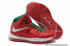 huge discount ff821 e6056 Authentic Red Green White Nike Lebron X 10 For Wholesale