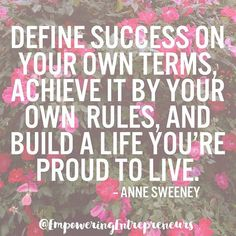 Success really is defined differently by everyone. And that's a good thing! Just make sure you know what it (actually) means to YOU. All the love...