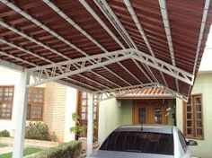 Imagini pentru como fazer mao francesa telhado Sci Fi Rpg, General Construction, Car Parking, Sweet Home, Outdoor Structures, Steel, Outdoor Decor, Home Decor, Bts
