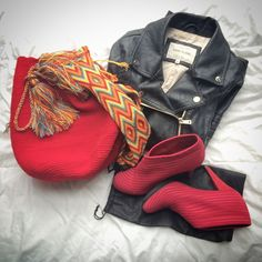 Monday selection, red mochila wayuu @polkafrogstudio, @riverisland jacket, @unitednude red heels!!! Have a fantastic week everybody!! Please contact us in polkafrogstudio@hotmail.com or find us live on eBay!!! #love #cute #photooftheday #beautiful #follow #followme #london #uk #like #style #bag #handmadebag #myroots #mypeople #colombia #southamerica #coolandtrendy #trendy #trend #polkafrogstudio #fairtrade #helpthewayuu #unitednude #riverisland #nudeuniteduk #red