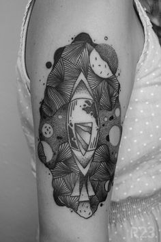 Gray Wash Nautilus Tattoo Design