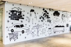A mural by the Oakland, California-based artist known as Swampy