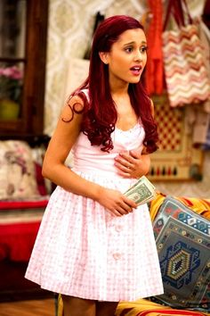 cat valentine outfits sam and cat cat valentine outfits ` cat valentine outfits victorious ` cat valentine outfits for school ` cat valentine outfits sam and cat ` cat valentine outfits winter ` cat valentine outfits victorious style Icarly, Victorious Cat, Cat Valentine Victorious, Ariana Grande On Victorious, Iggy Azalea, Cat Valentine Outfits, Holiday Outfits, Ariana Grande Red Hair, Sam E Cat