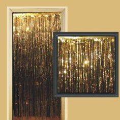 Gold Metallic Fringed Door Curtain