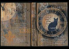 Stunning Art Journal cover by Janni Kretlow