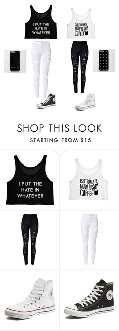 """""""twinie"""" by shakayla99jenkins ❤ liked on Polyvore featuring WithChic and Converse"""