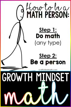 We are all math people! This growth mindset math poster reminds students that we can all achieve in math if … Math Quotes, Math Memes, Classroom Quotes, Growth Mindset Classroom, Growth Mindset Posters, Math Teacher, Teaching Math, Maths, Teaching Ideas