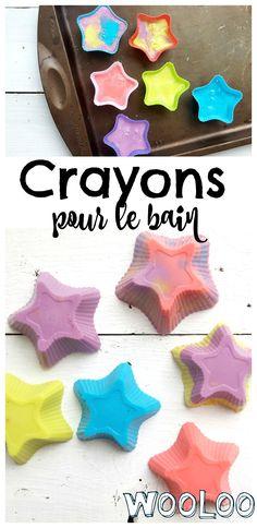 Des crayons de bain DIY pour se laver et dessiner! #diy #bain #bricolage #dessin