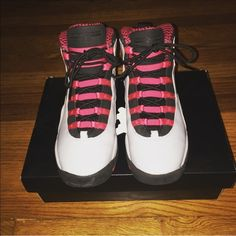 AIR JORDAN 10 RETRO WOLF GREY 10s. BARELY WORN! Size 7Y, equal to 8.5/9 in U.S. women shoes. NO TRADES! Jordan Shoes