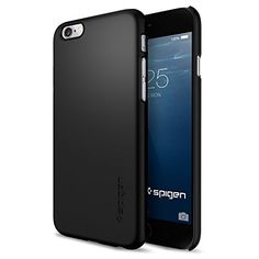 iPhone 6 Case, Spigen® [Thin Fit] Exact-Fit [Smooth Black] Premium SF Coated Non Slip Surface with Excellent Grip Case for iPhone 6 (2014) - Smooth Black (SGP10936) Spigen http://www.amazon.com/dp/B00JH87ZSQ/ref=cm_sw_r_pi_dp_fVOXwb1DGRAPW