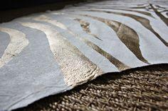 DIY Zebra Rug | Gold paint