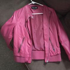 pink leather jacket pink leather jacket. never worn Forever 21 Jackets & Coats