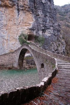 to greece To Greece destinations To Greece greek islands To Greece on a budget To Greece outfits To Greece packing lists To Greece tips To Greece with kids One of the most popular stone bridges in Epirus, the bridge of Kokoras Zakynthos, Old Bridges, Greece Travel, Greek Islands, Porches, Places To See, Beautiful Places, National Parks, Scenery