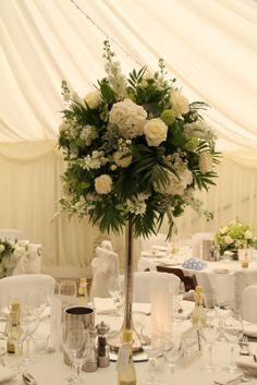 Classically Elegant White: Silver Candlestick Design