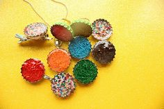 diy candy filled bottle cap jewelry