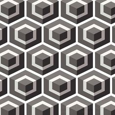 Geometric Hexagon Behang Donker Grijs - Cole & Son Geometric Hexagon Behang Donker Grijs - Cole & Son