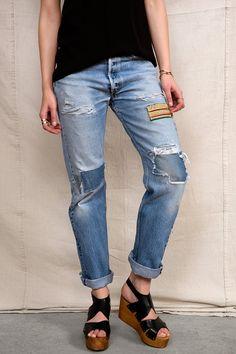 HYM Salvage X Urban Renewal Embellished Rip + Repair Jean - Urban Outfitters