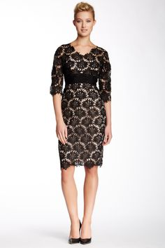Mikael Aghal | Mikael Aghal Floral Lace Dress | HauteLook