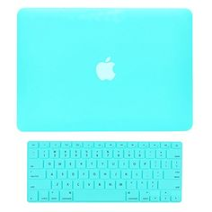 """TopCase 2 in 1 Retina 13-Inch HOT BLUE Rubberized Hard Case Cover for Apple MacBook Pro 13.3"""" with Retina Display Model: A1425 and A1502 (NEWEST VERSION 2013) and Matching Color Keyboard Cover TOPCASE Mouse Pad"""