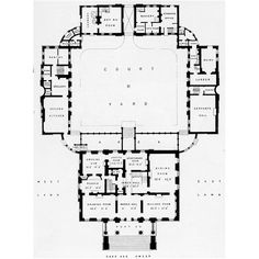 Ground floor plan of Berrington Hall.