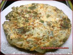 www.lambruchona.com. Tortilla de judias verdes y queso.