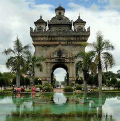 The Gate of Triumph in Vientiane, Laos