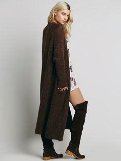 Santa Cruz Cardigan | Effortless maxi cardi in a luxe alpaca blend with a coveted slouchy fit, wide ribbed trims, and hip pockets.
